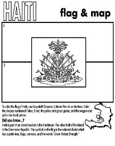 Learn more about the Haiti flag with this coloring page #haiti #coloringpage