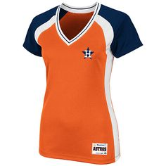 Houston Astros Women's Cooperstown Opal Synthetic Top by Majestic Athletic