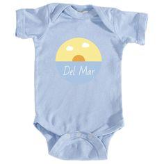 Del Mar Ocean Sunset - California Infant Onesie/Bodysuit