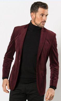 Mens Burgundy Velvet Blazer Jacket by Fellini Tailored Velvet Blazer Mens, Velvet Jacket, Burgundy Blazer, Blazers For Men, Blazer Jacket, Oneplus Wallpapers, Mens Fashion, Dapper, Jackets