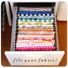 DIY Craft Room Ideas and Craft Room Organization Projects -  Filing Fabric Organizer  - Cool Ideas for Do It Yourself Craft Storage - fabric, paper, pens, creative tools, crafts supplies and sewing notions |   http://diyjoy.com/craft-room-organization