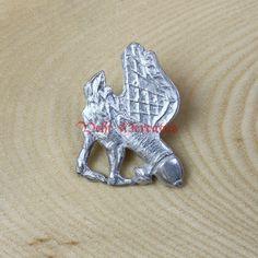 Zinnabzeichen Zinn, Lion Sculpture, Statue, Art, Accessories, Badge, Middle Ages, Sachets, Figurine