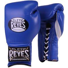 Authentic Cleto Reyes Professional Gloves Blue Laces 16oz #CletoReyes