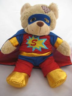"""Superbear outfit / clothes to fit 15""""/16"""" build a bears"""