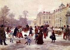 Leon Joseph Voirin - A Winter's Day. 1884