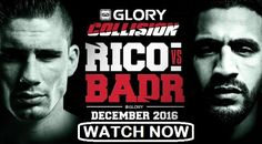 """Brendan Dorman breaks down the biggest kickboing match in recent memory. As Rico Verhoeven takes on Badr Hari at Glory """"Collision. Boxing Live, Mma Boxing, Boxing News, Ufc Live, Live Tv, Badr Hari, Volleyball Live, Ticket, Watch Premier League"""