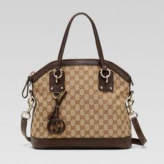247279 F4clg 9794 Gucci Charm Medium Top Griff Tasche mit Leder-G Gucci Damen Handtaschen