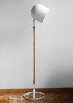 White floor lamp IGLOO by Emmanuel Combe, via Behance Retro Floor Lamps, Diy Floor Lamp, White Floor Lamp, Modern Floor Lamps, Modern Lighting, Lighting Design, House Lighting, House Lamp, Unique Lamps
