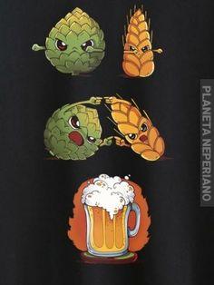 Lupulo + cebada = cerveza
