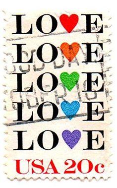 Love Stamp United States Postage 1984 20 cent stamp