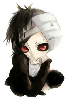 Chibi Uta i can't i just can't too cute!<<<I was thinking the exact same thing! Anime Chibi, Kawaii Anime, Manga Anime, Anime Art, Chibi Tokyo Ghoul, Tokyo Ghoul Uta, Awesome Anime, Anime Love, Anime Guys