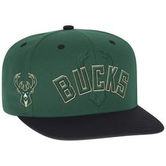 super popular addc5 d1452 Milwaukee Bucks adidas Youth 2016 NBA Draft Snapback Hat - Green