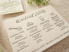 Oh So Beautiful Paper: How to Add Personal Details to Wedding Invitations