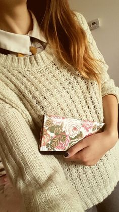 #vintage #roses #cold #sweater #shirt #petercollar