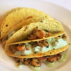 Crawfish Tacos with Avocado Crema - Louisiana Cookin'!! Mmmm!