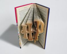 Harry Potter Inspired Book Art - HP folded into the Harry Potter Title of Choice. £24.95 on Etsy