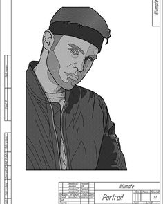Engineering drawing of the glorious hip-hop artist #illumate. It's made with admiration for your work @justsaymeow .