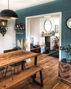dining roomdining roomNew Stylish Bohemian Home Decor and Design Ideas - Interior / Exterior - Bohemian .New Stylish Bohemian Home Decor and Design Ideas - Interior / Exterior - Bohemian Decor Design Home Ideas 16 Home Design, Design Ideas, Design Design, Living Room Interior, Living Room Decor, Dining Room, Wood Furniture Living Room, Painting Furniture, Room Kitchen