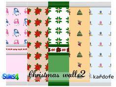 #Sims4 | kardofe_Christmas walls2