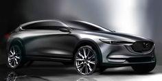 Future Concept Cars, Future Car, Mazda Cx 8, Car Design Sketch, Car Sketch, Exterior Rendering, Exterior Design, Id Design, Transportation Design