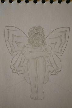 ⚪natta.lk @ instagram⚪ Teckning Vingar Flicka Tjej Blyerts Drawing Wings Girl Blacklead Graphite Art Artwork