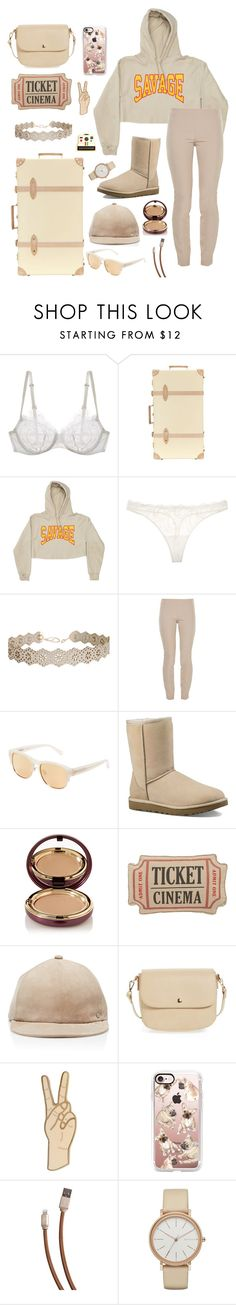"""Hundred day challenge// day 5"" by be-robinson ❤ liked on Polyvore featuring La Perla, Globe-Trotter, Humble Chic, The Row, Linda Farrow, UGG, Wander Beauty, Levtex, Maison Michel and BP."