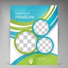 Vector Beautiful Green Flyer. Vecteur gratuit Book Cover Page, Book Cover Design, Book Design, Book Covers, Brochure Design, Flyer Design, Ux Design, Free Psd Flyer Templates, Flyer Free