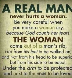 Why men should not make women cry