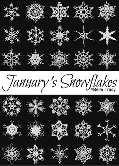 January's Snowflakes / and YES. there are links for the patterns!!!! lovely . . . oh, and she plans to do the full year! (snowflakes--the best way to prepare yourself for crocheting doilies (in my opinion.)