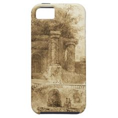 Roman Park with Fountain by Jean-Honore Fragonard iPhone 5/5S Cases