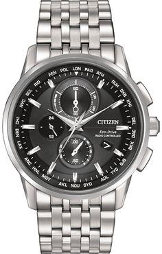 AT8110-53E, AT811053E, Citizen world chronograph a t watch, mens