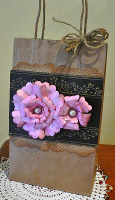 Couture Creations: Decorated Gift Bag & Tag by Adriana Bolzon   | Couture Creations Embossing Folder & Nesting Dies