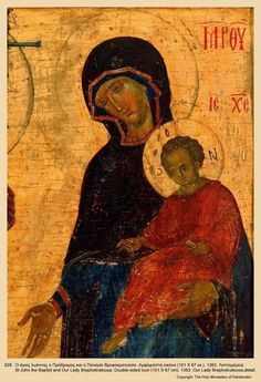 Icon028DE027 Byzantine Art, Byzantine Icons, Religious Icons, Religious Art, Roman Church, Images Of Mary, Art Icon, Orthodox Icons, Blessed Mother