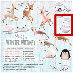 Half Deer - Winter Whimsy, Winter in a Cup (Seal)