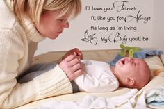 Love You Forever | Details about I'll love you forever.. Vinyl Wall Decal Words Lettering ...