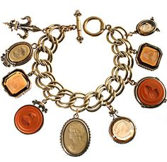 Intaglio bracelet! Love Victorian English jewelry.