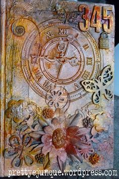 Dimensional Collage: Art Journal Cover