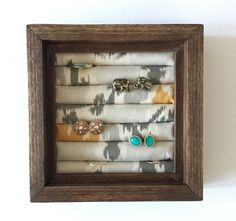 Small Stud Earring/Ring Organizer, Stud Earring Holder, Earring Organizer, Home Decor, Jewelry Display by JMKPracticalDesigns on Etsy