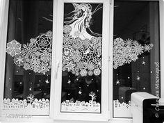 Интерьер Новый год Рождество Вырезание   новогоднее украшение окон 2015/16 Бумага фото 1