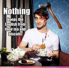 Um, Daniel? You might want to take your teatime to go...to the ER!