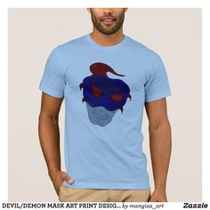DEVIL/DEMON MASK ART PRINT DESIGN FOR SHIRT