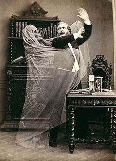 Vintage ghost comedy sketch