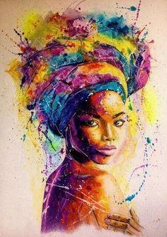 Black Love Art, Black Girl Art, Art Girl, Black Art Painting, Black Artwork, Colorful Artwork, African Art Paintings, African Artwork, Popular Art Paintings