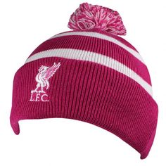 - bobble style knitted hat- adults one size fits all- embroidered crest- with a swing tag- official licensed product Football Accessories, Football Memorabilia, European Soccer, Soccer Gifts, Swing Tags, Ski Hats, Knitted Gloves, Liverpool Fc, Skiing