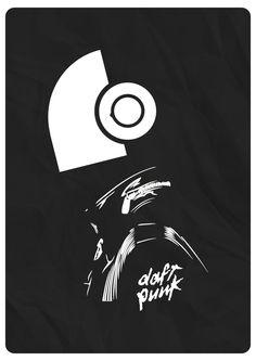 Daft Punk   minimal art by Artisto