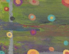Sky with Circles 2 Painting Print on Wrapped Canvas
