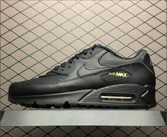 Cheap Nike Air Max 90 Premium Black Gold Shoes On Sale 436a95d83