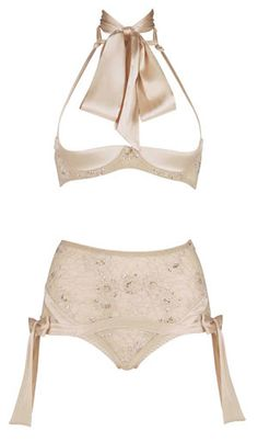Agent Provocateur Swarovski Crystal-Embellished Set ~nude love this sat necktie it makes it so glamorous and sexy Pretty Lingerie, Bridal Lingerie, Beautiful Lingerie, Designer Lingerie, Luxury Lingerie, Sexy Lingerie, Luxury Designer, Men's Underwear, Corsets
