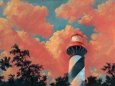 Rob Kaz... | Kai Fine Art Lighthouse Art, Prints For Sale, Limited Edition Prints, Kai, Oil On Canvas, Lighthouses, Art Gallery, Paisajes, Art Museum
