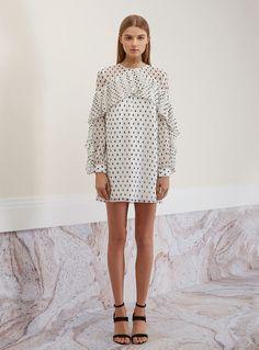 Keepsake Don't Wait Mini Dress – Spot Print Light